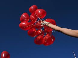 heart balloons heart balloons on blue sky domain free photos for