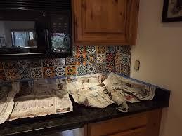 Astounding Mexican Tile Backsplash Kitchen Foto Designer - Mexican backsplash