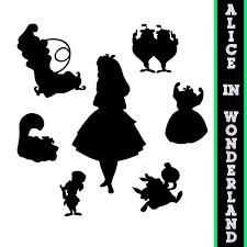 Halloween Silhouette Templates Alice Au Pays Des Merveilles Silhouettes Par Sparkyourcreativity