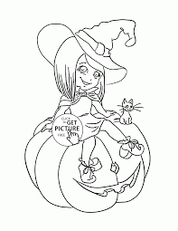 cute halloween witch coloring pages for kids pumpkin printables