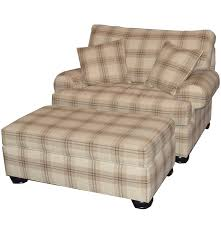 oversize plaid chair and ottoman by ethan allen ebth