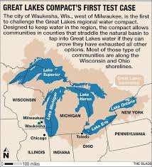 Map Of Great Lakes Great Lakes Compact Valuable In Waukesha Ruling Mott Foundation