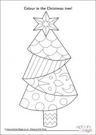 christmas tree colouring pages