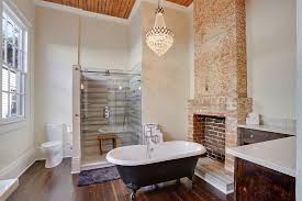 Traditional Bathtub New Orleans Old Detroit Brick Bathroom Transitional With