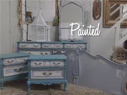 french provincial painted bedroom suite furniture antique on white