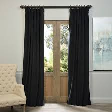 exclusive fabrics signature warm black velvet blackout curtain