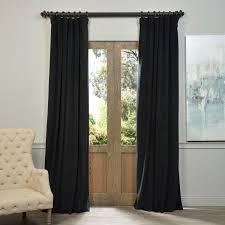 exclusive fabrics signature warm black velvet blackout curtain