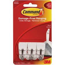 command wire hooks white small 3 hooks 4 strips pack walmart