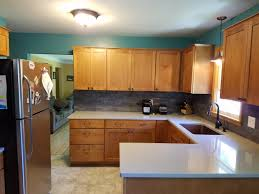 Kitchen Cabinets With Countertops Kitchen Remodel With Maple Cabinets And Hanstone Quartz