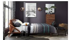 Leather Headboard Queen Bed by Drommen Acacia Queen Bed With Leather Headboard Cb2