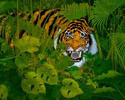 saatchi tiger in the jungle painting by ken church