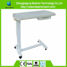 hospital bed table with drawer bt at009 top sell hospital bed tray table movable overbed table