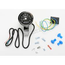 baron custom accessories 3 in bullet tachometer black face for 1