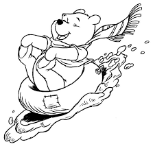 winter theme coloring pages pictures to colour disney