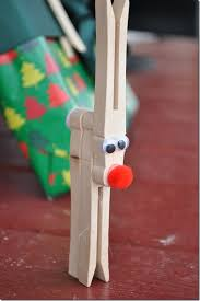 clothespin reindeer craft for reindeer craft craft and easy