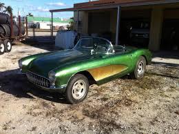 1957 corvette gasser chevrolet corvette convertible 1957 green for sale xfgiven vin