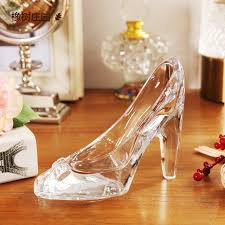 fashion simple nordic style cinderella glass slipper ornaments