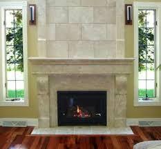 captivating corner gas fireplace design with brown varnished