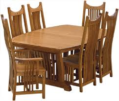 Solid Wood Royal Mission Dining Set - Mission dining room table