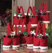 amazon com santa pants gift and treat bags home u0026 kitchen