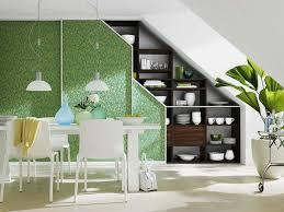 cuisine escamotable decoration meuble sous comble cuisine escamotable facade verte