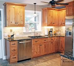 Knotty Alder Kitchens Rustic Knotty Alder Kitchen With Weathered - Rustic pine kitchen cabinets