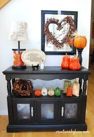 entryway table decor fall home decor u2014 creations by kara table