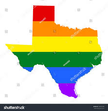 Texas Under Spain Flag Texas Pride Map Vector Rainbow Stock Vector 650203498