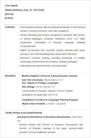 Resume Summary For College Student Download Sample Resumes For College Students