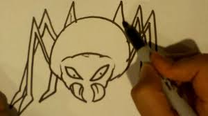 how to draw a spider halloween drawings youtube