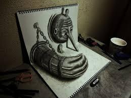 altered perception nagai hideyuki u0027s amazing 3d sketches u2013 flavorwire