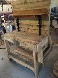 Free Wooden Potting Bench Plans by Pallet Potting Table