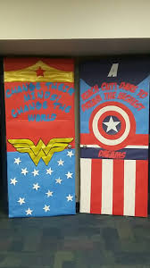 wonder woman captain america classroom door classroom