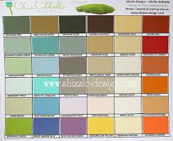 cece caldwell u0027s hand painted color chart by shizzle design in