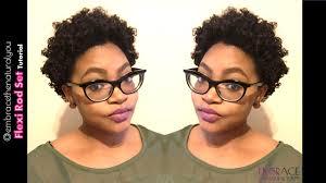 flexi rod stretch long 4b c hair flexi rod set on short natural hair youtube
