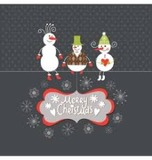 christmas card with funny company royalty free vector image