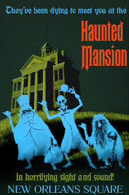 disney haunted mansion vintage poster chimaera designs
