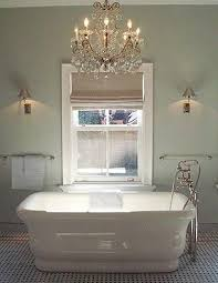 Remodelaholic Electricity And Bathroom Chandeliers - Bathroom chandelier