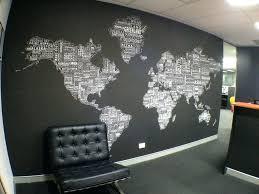 Decorative Wall Maps The World World Map Wall Decor Wall
