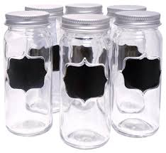 contemporary kitchen canisters ware 6 glass chalkboard spice jar set contemporary