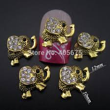 aliexpress buy new arrival 10pcs silver gold 10pcs silver gold 3d design elephant nail decorations jewelry