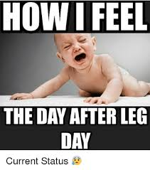 Leg Day Meme - how i feel the day after leg day current status meme on me me