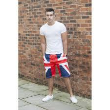 Mens Flag Shorts Union Jack Bermuda Shorts