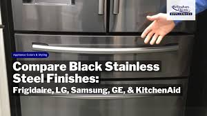 gray kitchen cabinets with black stainless steel appliances black stainless steel appliances 02 05 18