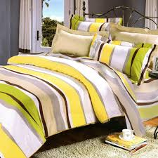 lime green yellow striped teen bedding twin full queen king duvet cover set boy or