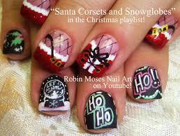 2 nail art tutorials christmas nails corset and snow