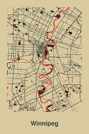Winnipeg Map 301 Best Maps Images On Pinterest City Maps Map Art And Map Design