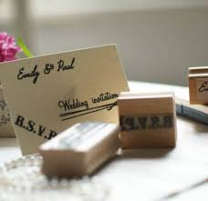 Stamps For Wedding Invitations Diy Wedding Invitations Personalised Rubber Stamps Set By Pretty