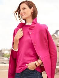 ruffle neck double face jacket talbots sb aug 2017 fashion