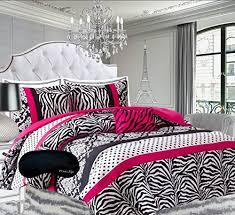 Pink Zebra Comforter Set Full Teen Pink Black White Bedding Comforter Damask Zebra